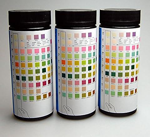 1 x 100 x 10 Para MISSION Urine Test Strip Test Stick Strips Blood, Billirubin, Urobiligen, Ketone, Protein, Nitrite, Glucose, PH, Specific Gravity, Leucocytes ~ More pack sizes available, 200, 500 & 1000 strip packs