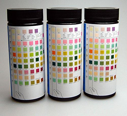 Para Mission Teststreifen zur Harnuntersuchung, Test für Blut, Bilirubin, Urobiligen, Ketone, Protein, Nitrit, Glucose, pH-Wert, spezifisches Gewicht, Leukozyten, weitere Packungsgrößen erhältlich: 200, 500und 1000Streifen, 1x 100x 10 Spezifisches Gewicht-test