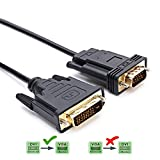 CableDeconn DVI auf VGA, 2M DVI 24+1 DVI-D M to VGA Male with Chip Active Adapter Konverter Kable for PC DVD Monitor HDTV