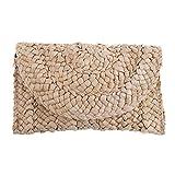 Kesheng Damen Stroh Handtasche Umschlag Tasche Brieftasche Sommer Strand Aufbewahrung