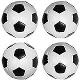 German Trendseller 4er Set Weicher Soft Fußball ┃Schaum Ball ┃ Zauberer Ball┃ Knautsch Ball ┃ Kinder lieben diese Fußballer Abziehbildchen !