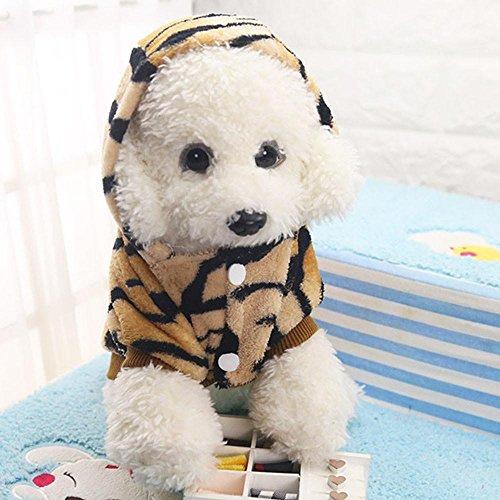 Imagen de hunpta mascota cachorro pequeño perro gato franela disfraz de leopardo ropa de abrigo alternativa