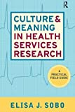 Culture and Meaning in Health Services Research by Elisa J Sobo (2009-03-17)