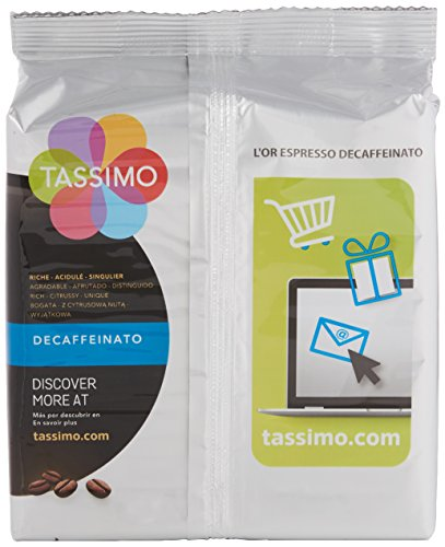 4 x Tassimo Lor Espresso Decaffeinated Decaf Coffee 16 Discs/Servings (Total 64 Servings)