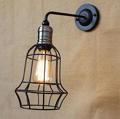 DENG Appliques Créatif personnalité LED Métal Cage Applique E27 Abat-Jour Éclairage de Chevet intérieur Décoration de luminaire, A