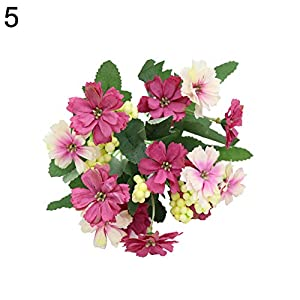 Shyymaoyi – Hermosa flor de margarita artificial, estilo rural, decoración para el hogar, oficina, boda, fiesta, azul