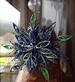 decorazioni natalizie per finestre, stella di natale arte quilling