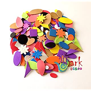 Self Adhesive Craft Foam Assorted Shapes- 180 Pieces by ark