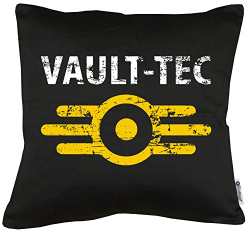 TLM Vault Tec Kissen mit Füllung 40x40cm (Billig Gohan Kostüm)