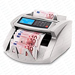 Stückzahlzähler Euro Geldscheine SR-3750 LCD UV/MG/IR von Securina24® (Silbergrau - LCD)
