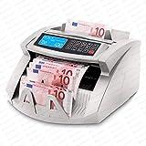 Stückzahlzähler Geldzählmaschine Geldzähler Geldscheinzähler SR-3750 LCD UV/MG/IR von Securina24 (Silbergrau - LCD)