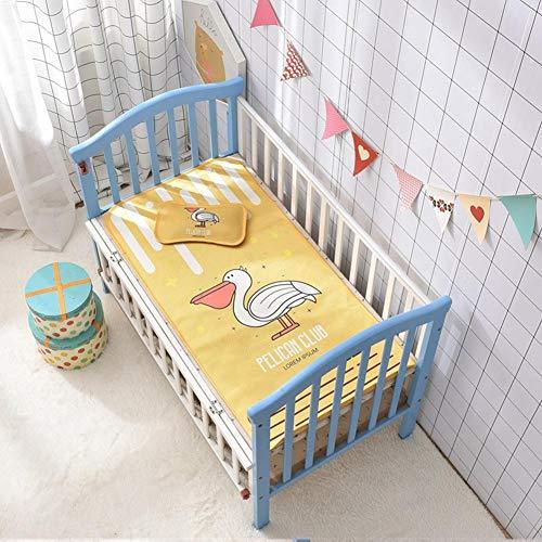 Nicololfle Babykühl Isomatte , Cartoon Kinderbett Isomatte Mit Kissenbezug Sommer Cool Atmungsaktiv Faltbar Ice Silk Mat Baby Sommer Bettwäsche Wiege Kinderwagen Mat