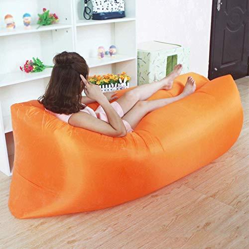 DONGY Aufblasbares Sofa für Außenluft Liege Couch Luftkissenbett Sandstrand Tragbares Lazy Schlafsofa Lounge Sofa Hängematte Tasche Couch Schlafsack Lazy Bag wasserdicht Luftleckage verhindern