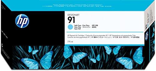 Preisvergleich Produktbild HP 91 Hellcyan Tintenpatrone, pigmentbasiert, 775 ml