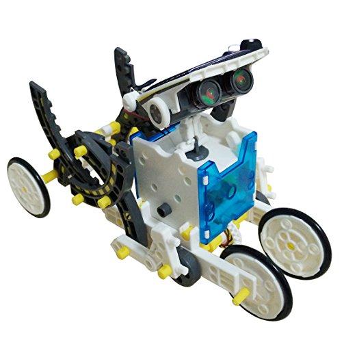 51Kz0ooUvlL - JEEMAK 14-en-1 para la Educación Solar Robot Kit