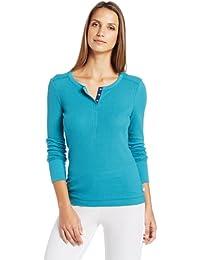 Nautica Sleepwear Women's Pointelle Henley Top