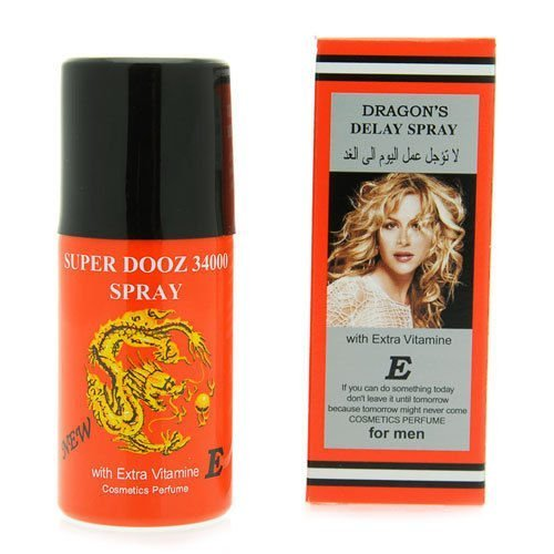 Dragon's 34000 Delay Spray for Men - Last Longer Safe Sex -- Expedited International Delivery by USPS / FedEx by Super Dooz