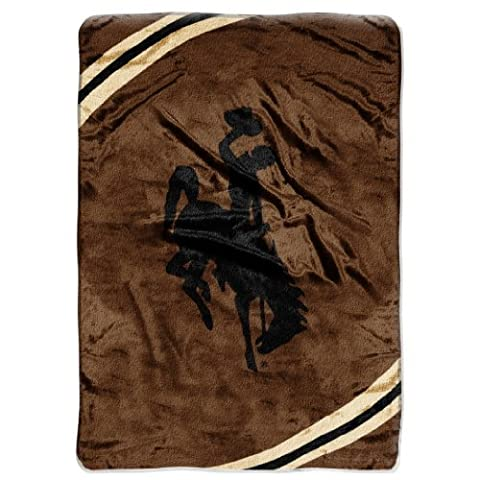 NCAA Wyoming Cowboys Force Royal Plush Raschel Throw Blanket, 60x80-Inch by Northwest