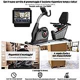 """Sportstech Cyclette ergometro reclinabile ES600 - Controllo App Smartphone Display 5,5"""" - Volano da..."""