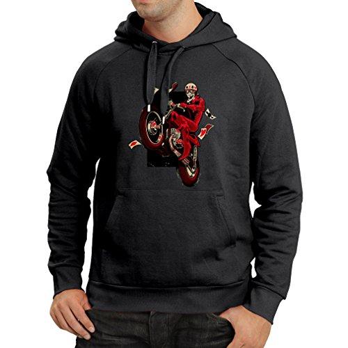 Lepni.me felpa con cappuccio motorcyclist - abbigliamento moto, abiti retrò (xxx-large nero multicolore)