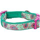 Blueberry Pet 1,5cm S Paisley-Druck Inspiriertes Ultimatives Hell-Smaragdgrün Neopren-Gepolsterte Hundehalsband, Kleine Halsbӓnder für Hunde - 2