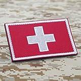 Cobra Tactical Solutions Weißes Kreuz Sanitäter 3D PVC Patch mit Klettverschluss