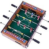 Goldge Mini Kickertisch Fußballtisch Kicker inkl. 4 Kickerbälle Maße 34.5*23cm Top Qualität für Kinder