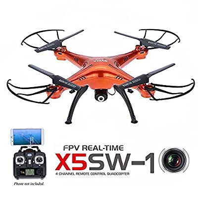 Syma X5SW FPV Explorers2 2.4Ghz 4CH 6-Axis Gyro RC Headless Quadcopter Drone UFO with HD Wifi Camera Red