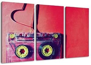 Cassette cuore immagine 3 pezzi su tela dimensione for Elevata progettazione di casette