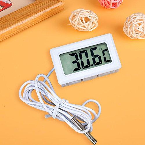 LCD Digital Eingebettet Thermometer Für Kühlschränke Gefrierschrank Aquarium Weiß