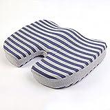 Komfort-Kissen Orthopädisches Gedächtnis-Schaum-Sitzkissen Druckentlastungskissen Groß Als Büro-Stuhl-Kissen Bewegliches Auto-Sitzkissen Rollstuhl-Kissen,Blue2-45 * 35 * 7cm