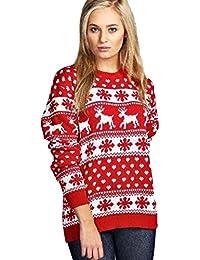 af3a8865acc62a hergestellt von Purl NEU Herren Damen Weihnachts Pullover Rudolph Pom Pom  Rentier Weihnachtsmann Elfen Pinguin Retro Vintage Pullover TOP…