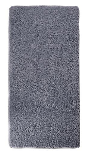 Suave Interior moderno Shaggy alfombra antideslizante alfombra alfombrilla para comedor hogar dormitorio salón salón footcloth-decorate, Gris, 120×160cm(47.2'×63')