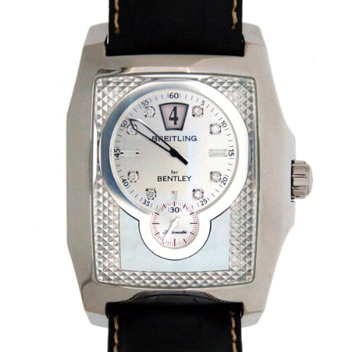 Clock Breitling Breitling for Bentley Automatic a28362 Silver quandrante Steel Leather Strap