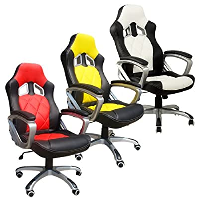 Office Chair Desk Chair Racing Chair Computer Chair Gaming chair with High Back PU Leather Executive