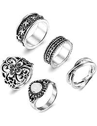 01a7374eac sailimue Schmuck 5-11PCS Frauen Vintage Knöchel Ringe Set für Damen Mädchen Ring  Sonne Mond