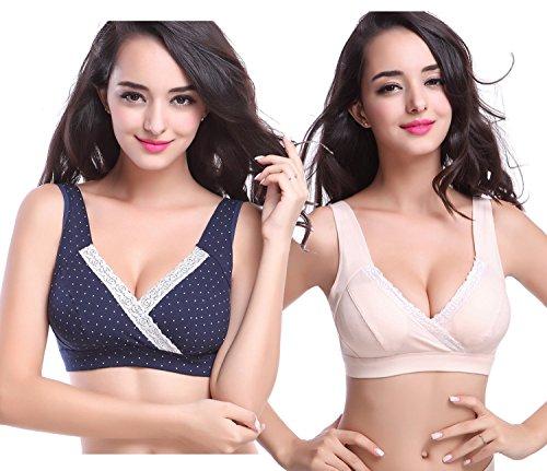 KUCI® Damen Soft Cup Cotton Schwangerschafts-BH für das Stillen (Soft-cup Mutterschaft Bh)