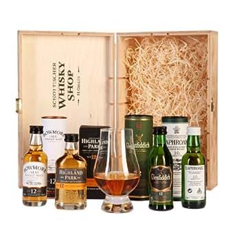 Schottischer Whisky Shop WhiskyGenießerSet(4 x 0.05 l) + 1 x Glencairn Whiskyglas