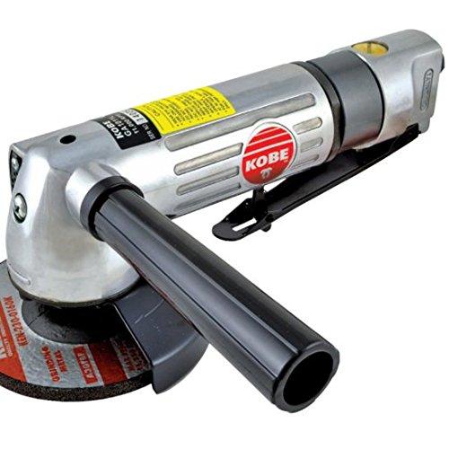 Druckluft-Winkelschleifer Aluminium 0,7 PS mit seitlichem Hilfsgriff 0,25 Ps Motor