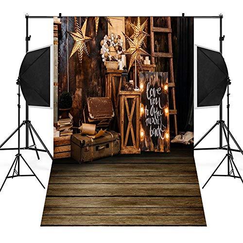 BESSKY Christmas Backdrops Snowman Vinyl 3x5FT Lantern Background Photography Studio Studio-Hintergrund-Stoff-Weihnachtsdekorations-Hintergrund des Weihnachtsfoto-Studio-3D -