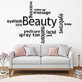 88cmx 56 cm Recentemente Salone di bellezza Adesivi Murali Spray Spray Tan Nail Polish Wall Art Murale Sticker Quote Picture Stickers Murali Rimovibile LC974