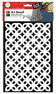 Marabu 028500004 Poliéster Plantilla de Estarcido Plantilla - Plantilla de Letras (Plantilla de Estarcido, Adulto, Poliéster, 210 mm, 297 mm)