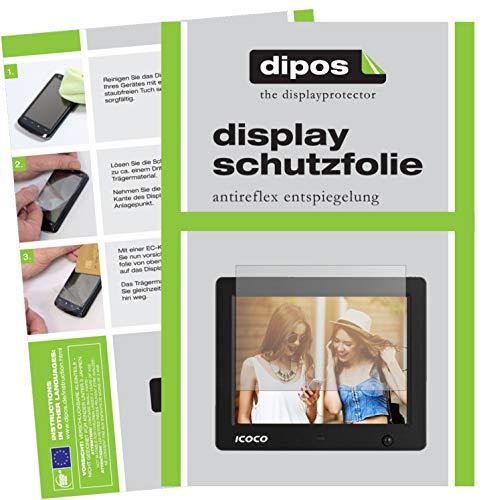 dipos I 6X Schutzfolie matt passend für Icoco 8 Zoll Digitaler Bilderrahmen Folie Displayschutzfolie