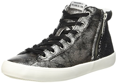 Pepe Jeans Damen Clinton Break Sneaker Grau - Gris (952Chrome)