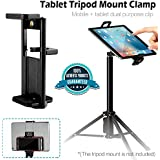 DEALPICK Yunteng Universal 1/4'' Thread Tripod Mount Holder Clip Stand Bracket Extendable Phone Tablet Holder for iPad2/3/4/Air Tablets Phone Clamp Adapter