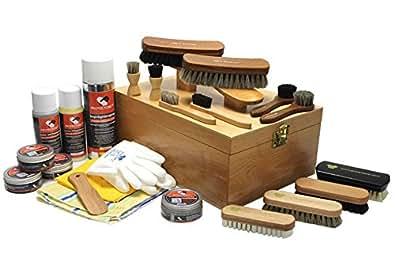 protectore Schuhputzkasten STEP XL natur 24-teilig (mit Inhalt, gefüllt) - Schuhputz Set