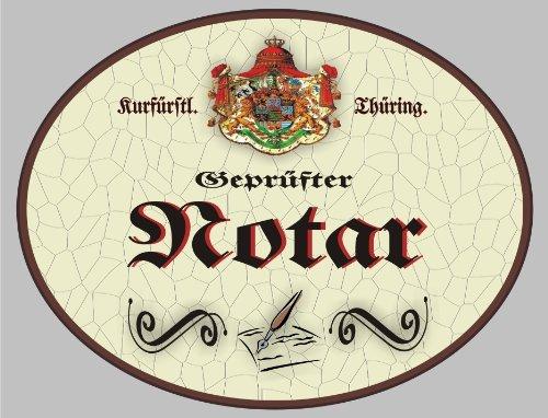 Holzschild Notar - Schild Thüringen (18 x 14 cm) (Notar Holz)