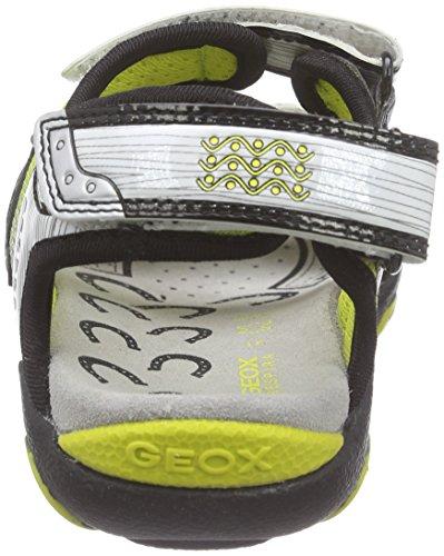 Geox Strike A, Sandales Bout Ouvert Garçon Multicolore (C0810)