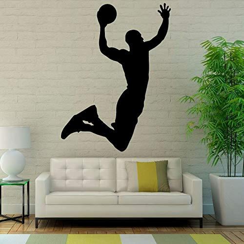 Beliebte Sport Wandaufkleber Basketball Kunst Vinyl Wand-dekor Aufkleber Wohnzimmer Wasserdicht Neue Ankunft Wandbild 80X59CM (Basketball-wand-kunst)