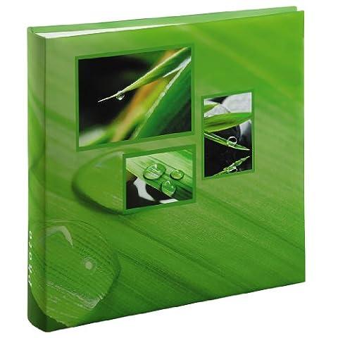 Hama Jumbo Fotoalbum Singo (30 x 30cm, 100 Seiten, 50 Blatt, 400 Fotos) grün